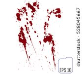 set of various blood or paint... | Shutterstock .eps vector #528045667