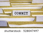 Small photo of Commit word on card index paper
