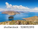 isla del sol  titicaca lake ... | Shutterstock . vector #528052393