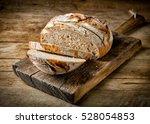 freshly baked sliced bread on...   Shutterstock . vector #528054853