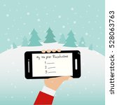 people hodling the smartphone... | Shutterstock .eps vector #528063763