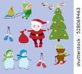 set of christmas symbols .... | Shutterstock .eps vector #528069463