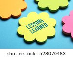lessons learned  education... | Shutterstock . vector #528070483