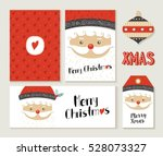 merry christmas greeting card... | Shutterstock .eps vector #528073327