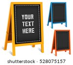business signs  chalk board... | Shutterstock .eps vector #528075157