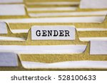 gender word on card index paper | Shutterstock . vector #528100633