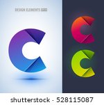 set of abstract letter c... | Shutterstock .eps vector #528115087