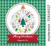 christmas and happy new year... | Shutterstock .eps vector #528140227