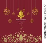 christmas and happy new year... | Shutterstock .eps vector #528140377