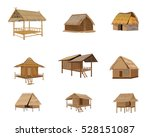 Straw Roof Hut Vector Design