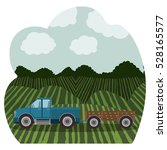 isolated farm truck design | Shutterstock .eps vector #528165577