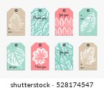 collection of cute gift tag... | Shutterstock .eps vector #528174547