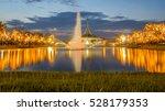 Beautiful Sunset And Fountain...