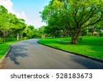 asphalt road go to greenness... | Shutterstock . vector #528183673