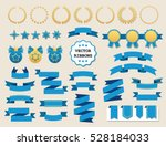 vector collection of decorative ... | Shutterstock .eps vector #528184033