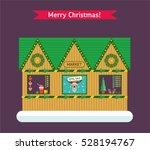 christmas and new year winter... | Shutterstock .eps vector #528194767