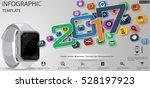 text 2017 smart watch business  ... | Shutterstock .eps vector #528197923