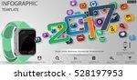 text 2017 smart watch business  ... | Shutterstock .eps vector #528197953