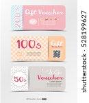 gift voucher  discount voucher ... | Shutterstock .eps vector #528199627