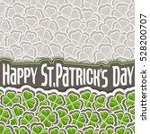 vector clover pattern for st... | Shutterstock .eps vector #528200707