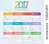 calendar 2017 print template... | Shutterstock .eps vector #528201847