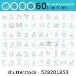 set of modern business... | Shutterstock .eps vector #528201853