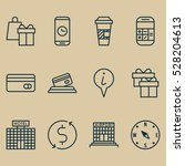 set of 12 traveling icons. can...