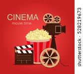 grunge retro cinema poster.... | Shutterstock .eps vector #528219673