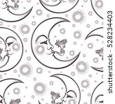 hand draw seamless pattern of... | Shutterstock .eps vector #528234403