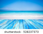 blue wooden table top on...   Shutterstock . vector #528237373