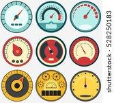 speedometer panel set  speed...   Shutterstock .eps vector #528250183