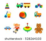 vector illustration of a toys... | Shutterstock .eps vector #528264103