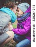 beautiful teenage girls having... | Shutterstock . vector #528264343