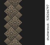 golden frame in oriental style. ... | Shutterstock .eps vector #528266797