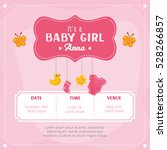 baby girl shower card.... | Shutterstock .eps vector #528266857
