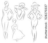 fashion woman models  sketch....   Shutterstock .eps vector #528270337