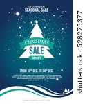 a4 size christmas sale flyer...   Shutterstock .eps vector #528275377