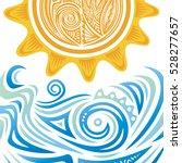sea and sun. vector... | Shutterstock .eps vector #528277657