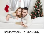 young couple in love taking... | Shutterstock . vector #528282337