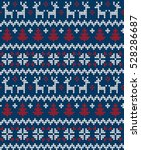 knitted christmas and new year... | Shutterstock .eps vector #528286687