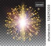 festive gold glitter particles... | Shutterstock .eps vector #528293203