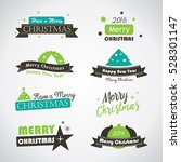 christmas labels and banners  ... | Shutterstock .eps vector #528301147