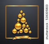 luxury elegant merry christmas... | Shutterstock .eps vector #528305803