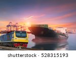 logistics and transportation of ... | Shutterstock . vector #528315193