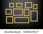 set of gold picture frame on... | Shutterstock .eps vector #528324517