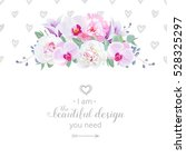wedding floral vector design... | Shutterstock .eps vector #528325297