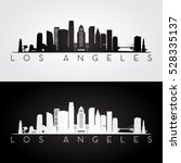Los Angeles Usa Skyline And...