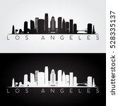 Los Angeles Usa Skyline And...