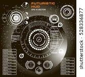 futuristic virtual graphic... | Shutterstock .eps vector #528336877