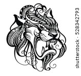 dragon  black dragon tattoo | Shutterstock .eps vector #528342793